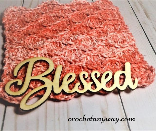 crochet spa washcloth in color splash by premier yarn