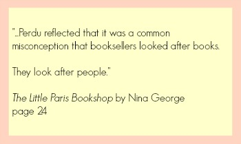 Bookseller quote from The Little Paris Bookshop.