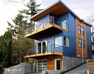 Casa contemporánea prefabricada en Estados Unidos