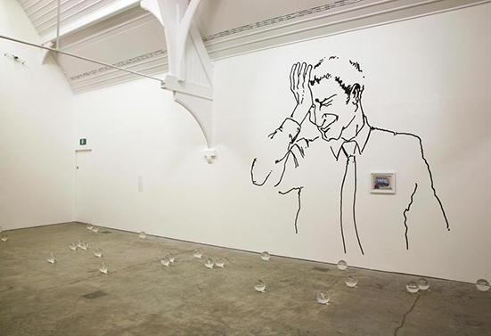 Ryan Gander  Heralded as the New Black, 2008 installation view