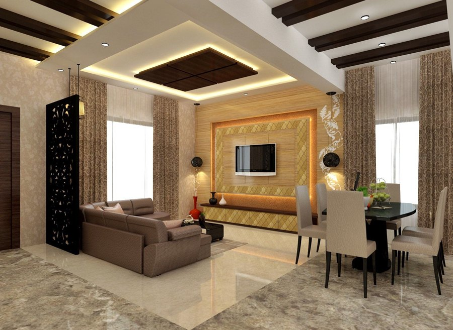 10 Modern Ceiling Designs For the Living Room - Dream House