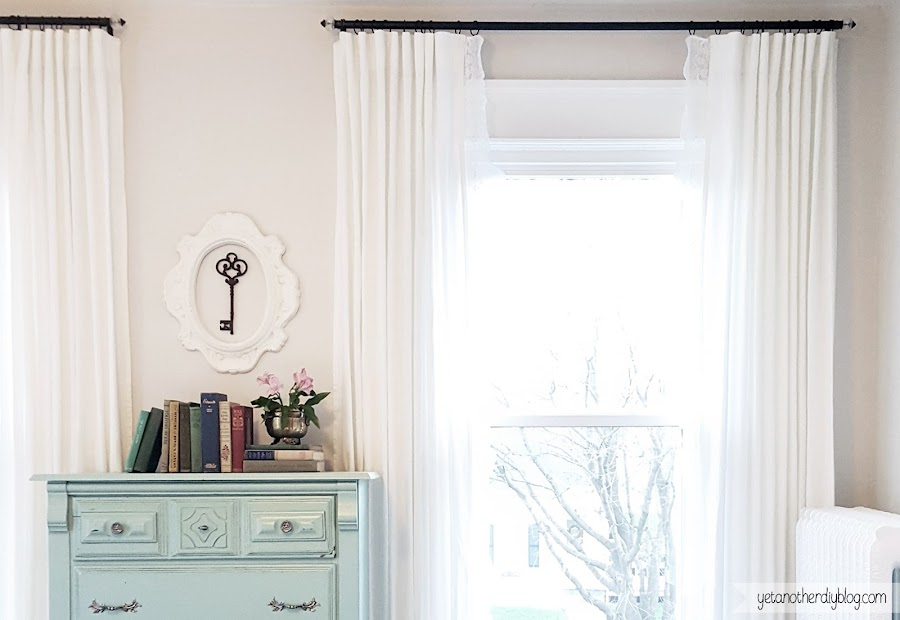 DIY curtain rods for less