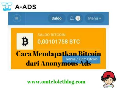 Cara Mendapatkan Bitcoin dari Anonymous Ads