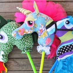 DIY Ride on hobby horse, unicorn, dragon diy inspiration