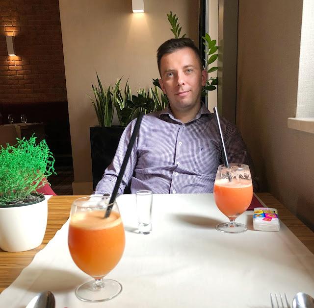 hotel wieniawski, restaracja trzy romanse, lublin, vistula, sok z cytrusów