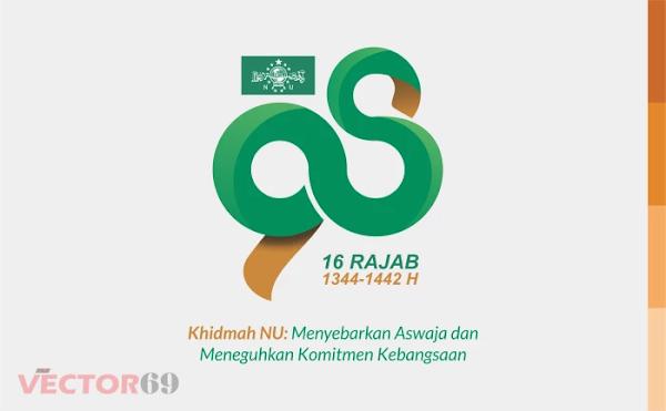 Harlah NU ke-98 16 Rajab 1442 H Tahun 2021 Logo - Download Vector File AI (Adobe Illustrator)