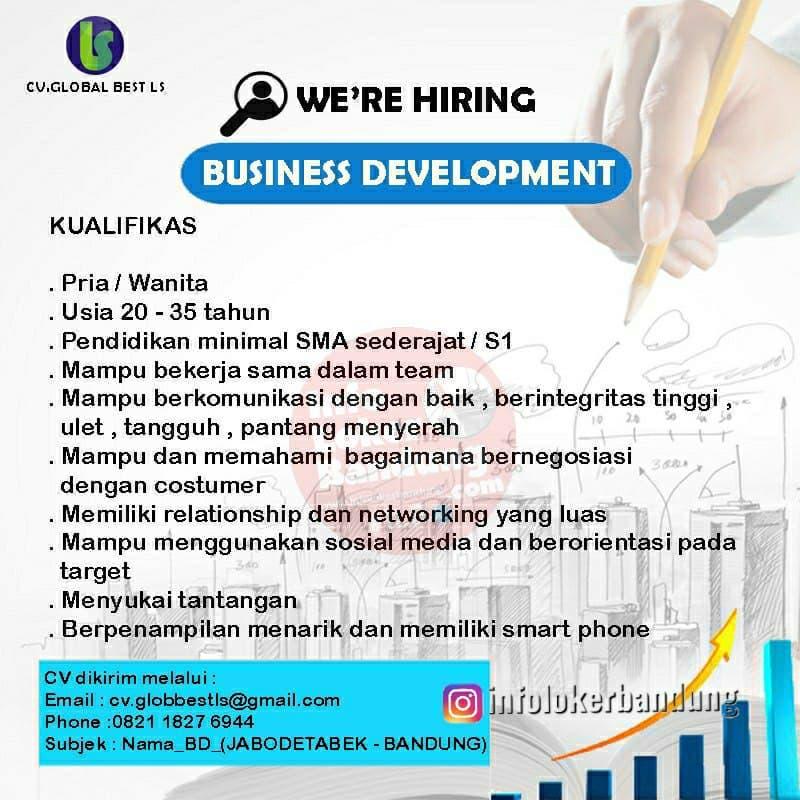 Lowongan Kerja CV. Global Best Ls Bandung Maret 2021