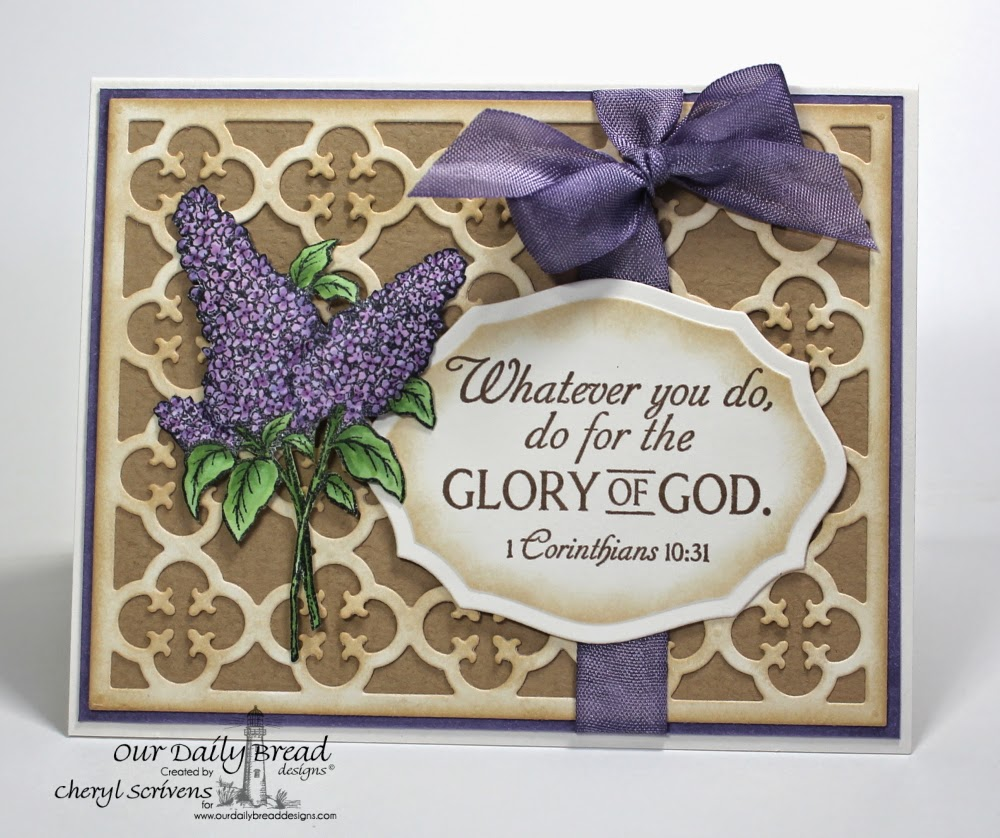 Stamps - Our Daily Bread Designs Glory, Lilac, ODBD Custom Quatrefoil Pattern Die, ODBD Elegant  Ovals Die