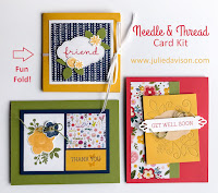 Stampin' Up! Occasion Catalog 2019 ~ Needle & Thread Card Kit ~ www.juliedavison.com/clubs