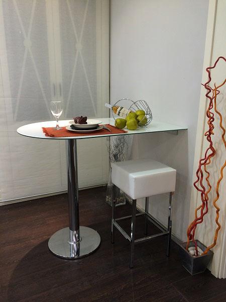 Mostradores barras de cocina mesas altas mesas de cocina y comedor - Mesa pared cocina ...