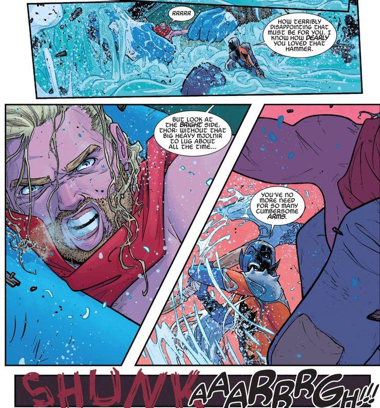Cómo Thor perdió (y reemplazó) su brazo en los cómics