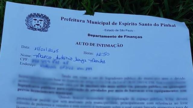 Após notificação, pinhalenses criam abaixo-assinado online para a cassação do Prefeito