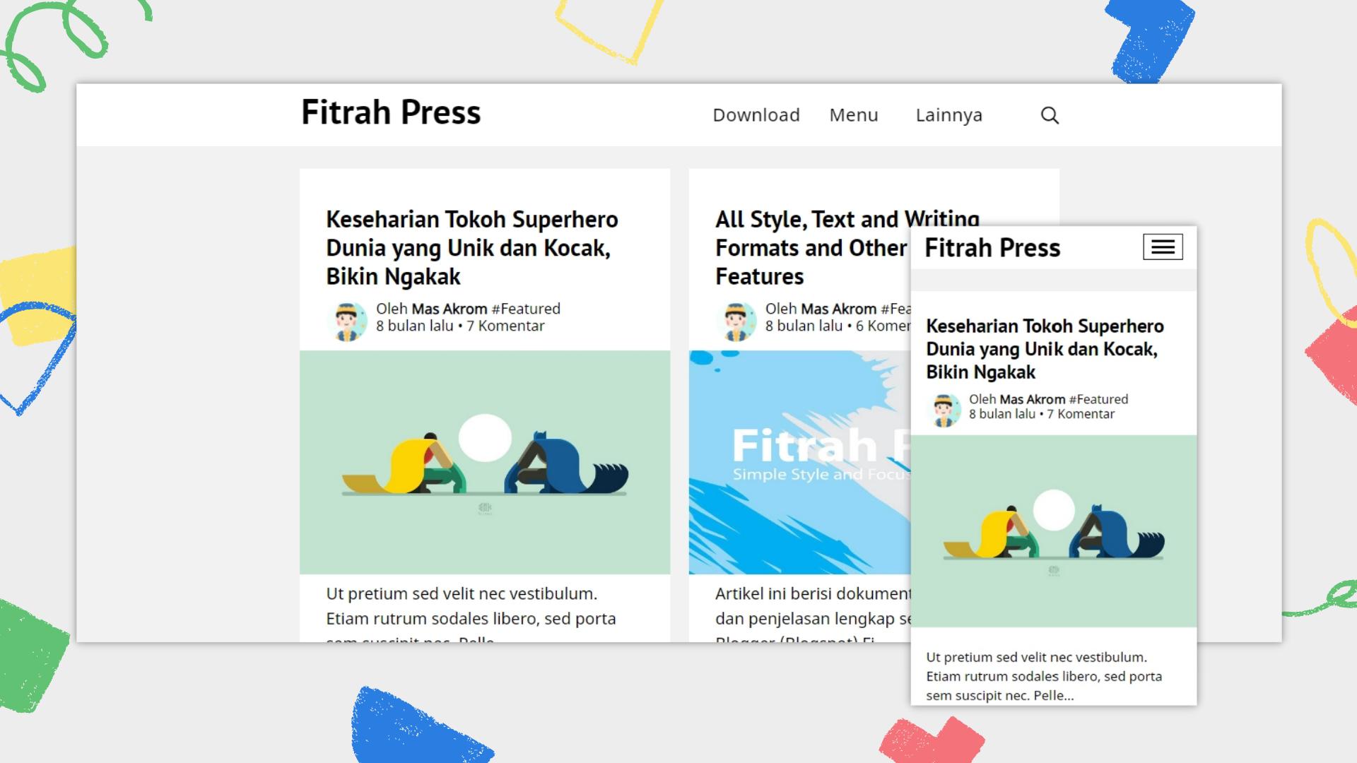 fitrah-press-premium-blogger-template