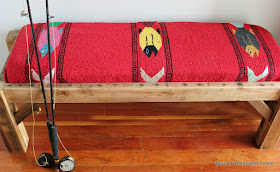 reclaimed wood rustic fish bench
