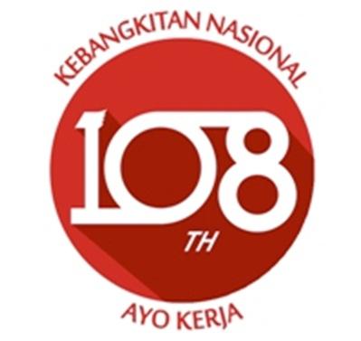 Logo Harkitnas ke-108 tahun 2016 Ayo Kerja