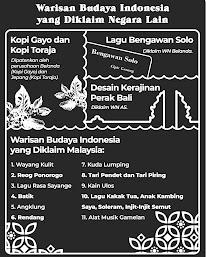 Beberapa Kebudayaan Indonesia Diklaim Negara Lain