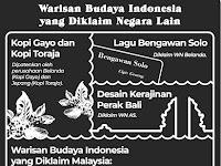 Beberapa Warisan Kebudayaan Asli Indonesia Diklaim Negara Lain