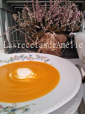 Sopa, calabaza, crema, nata, fácil, otoño