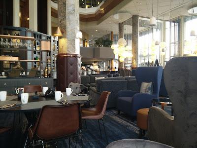 Breakfast at lobby bar/restaurant
