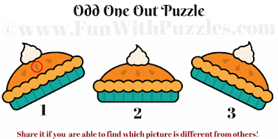 Answer of Odd One Out Cookies Puzzle