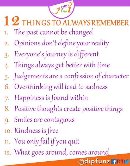 things to always remember in life