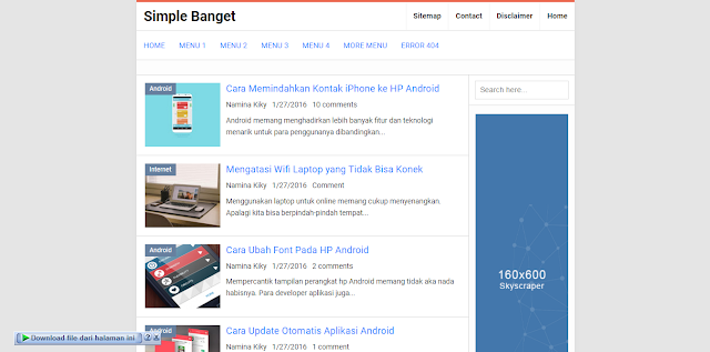 Simple Banget Blogger Template
