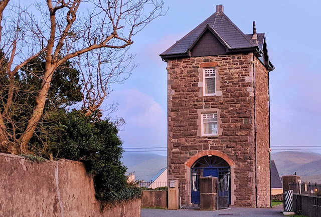 Water tower at the Old Cable Station Office in Waterville Ireland