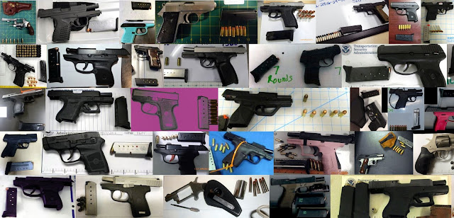 Discovered 73 firearms