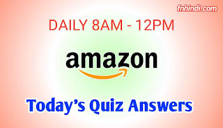 Amazon Quiz Answers Today 31th March 2020