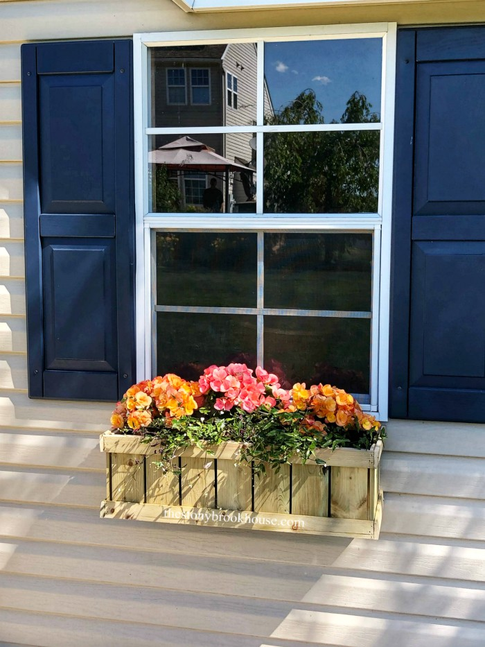 DIY Wood Window Box