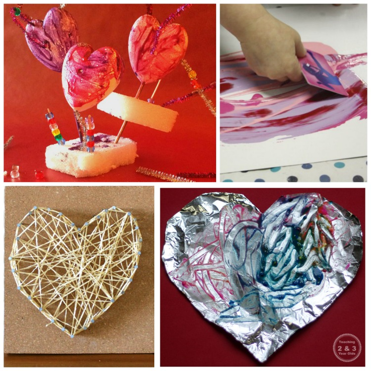 Valentine's Day Process Art Activities