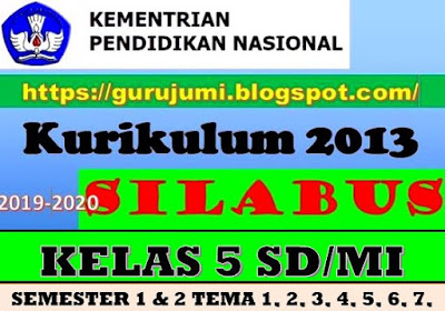 Download Silabus Kelas 5 K 13 Sd Mi Semester 1 Dan 2 Tema 1 2 3 4 5 6 7 8 9 Revisi 2018 Guru Jumi