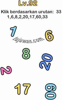 Brain Out : Klik Berdasarkan Urutan: 33 1,6,8,20,17,60,33 Jawaban Brain Out di Level 92