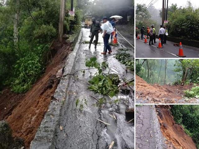 Longsor di Jalan Kolonel Masturi Dekat Curug Pelangi, Polres Cimahi Lakukan Rekayasa Lalin