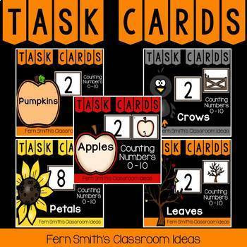 As you're gearing up for fall, you might also like these task cards, Counting Numbers 0 - 10 with a Fall Theme Bundle. #FernSmithsClassroomIdeas