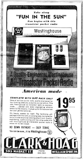 1960s ad for Transistor Radio $19.95