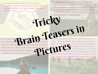 Interesting Tricky Brainteasers in Pictures for Adults with answers