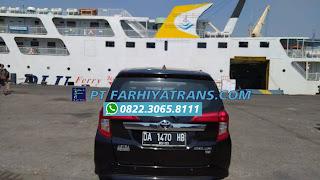 Ekspedisi FARHIYAtrans kirim mobil Toyota Calya dari Banjarmasin tujuan ke Surabaya, estimasi perjalanan satu hari dengan kapal roro.
