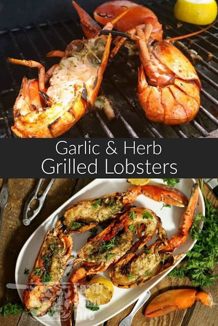 Grilled Atlantic Lobster Brushed with Garlic Butter & Herbs Recipe
