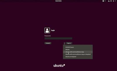 Ubuntu Communitheme login screen session
