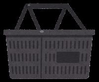 買い物かごのイラスト(黒)