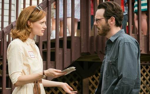 Kerry Bishé y Scott McNairy en Halt and Catch Fire