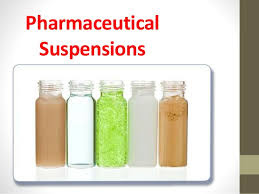 A pharmaceutical suspension would be considered stable if, after agitation (shaking), the drug particles are homogeneously dispersed