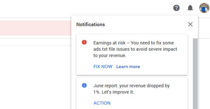 Cara Selesaikan Masalah Notifikasi 'Earnings at Risk' Adsense