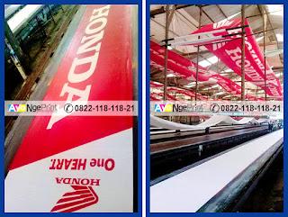 Percetakan Umbul-umbul kain murah di Senen, Jakarta Pusat