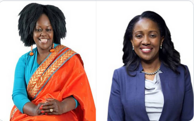 Suba North MP Millicent Odhiambo and Nakuru Senator Susan Kihika photo