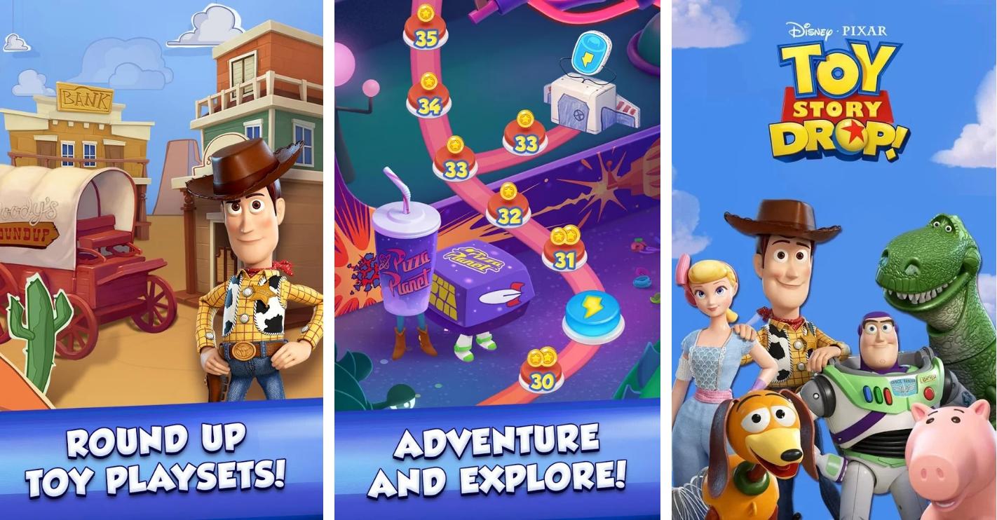 ملخص حول قصة لعبة قطرة Toy Story Drop!