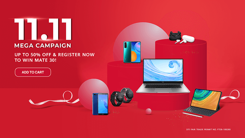 Deal: Huawei 11.11 Mega Campaign features discounts, raffle, freebies, vouchers