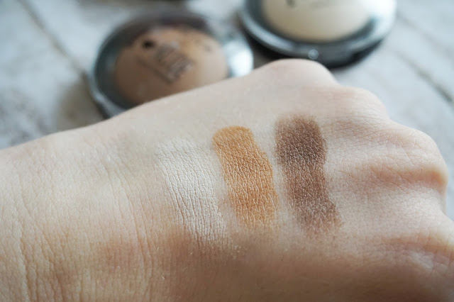essence - I love nude eyeshadow,  01 vanilla sugar, 04 sweet like chocolate, 06 coffee bean