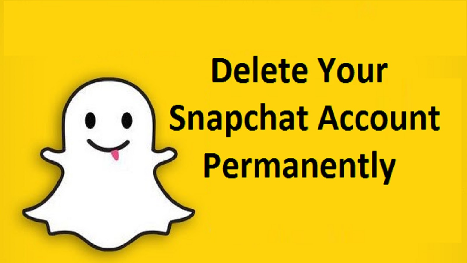 How To Permanently Delete Your Snapchat Account How Can I Delete My Snapchat  Account? How